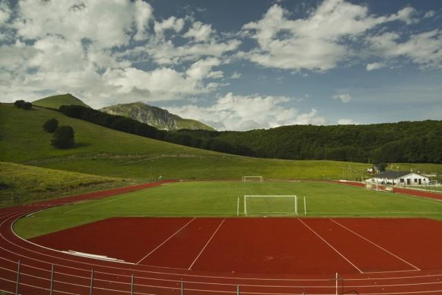 Una panoramica del campo e la pista del Terminillo
