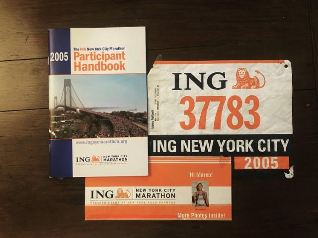 Il Kit della New York City Marathon 2005