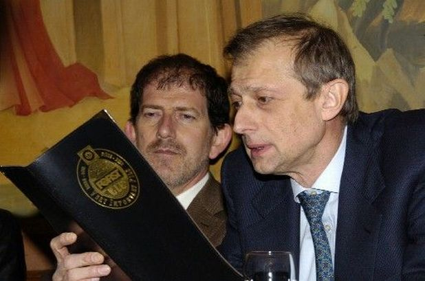 Alberto Pacher e Piero Fassino al ristorante Forst