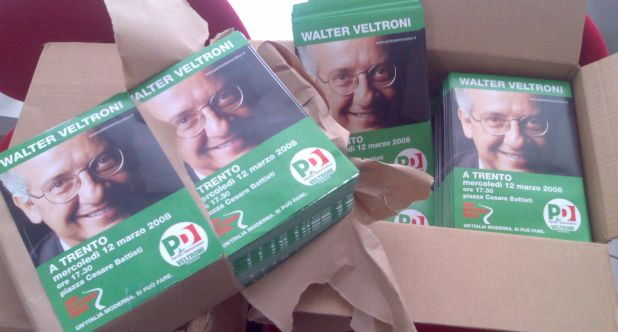 Volantini Walter Veltroni