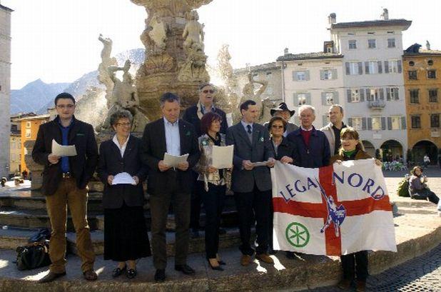 Il giuramento della Lega Nord