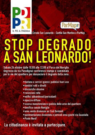 Stop degrado a San Leonardo_24 ottobre