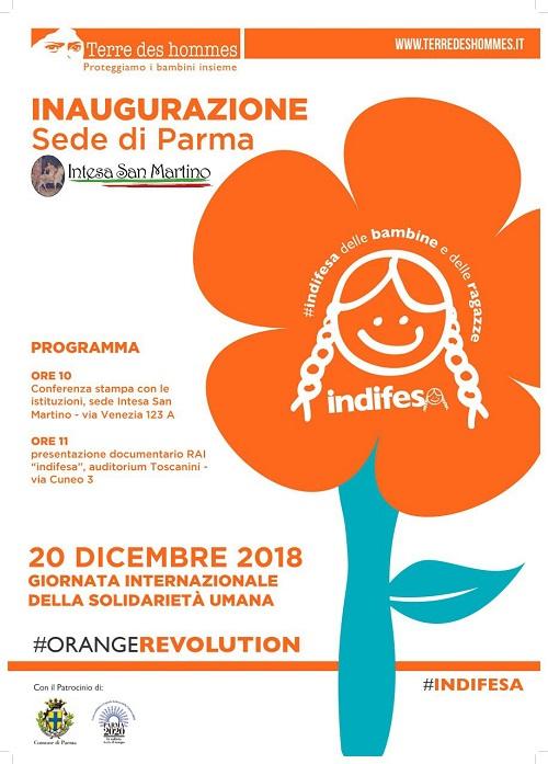 inaugurazione Terre des hommes sede di Parma