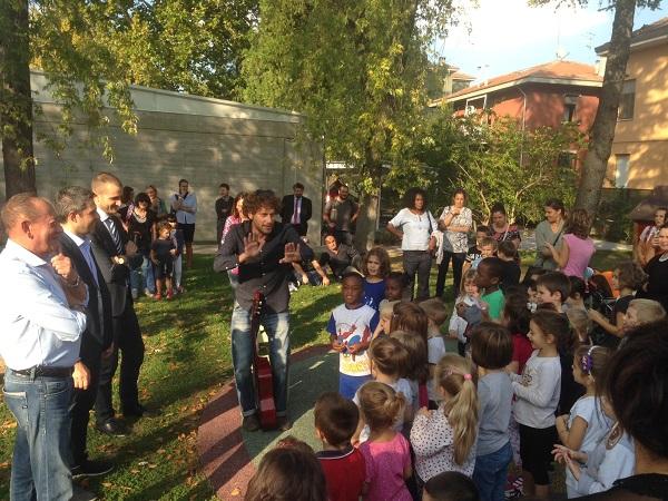 Asili Parma, Pizzarotti inaugura i nuovi spazi esterni del Tartaruga