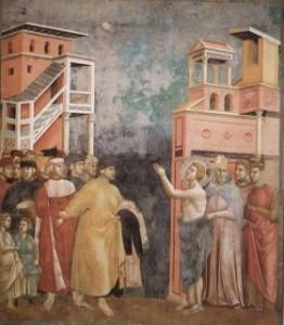 Giotto: San Francesco si spoglia dei suoi averi