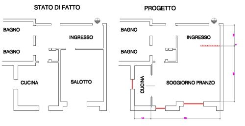 Progetto casa 80 mq casa ir pochi colori ma buoni for Dividere una casa di 90 mq