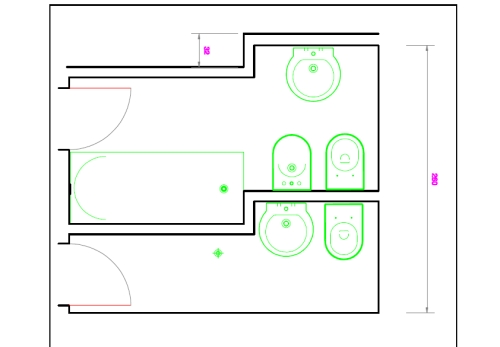 Chiedi all 39 architetto blog - Misure bagno minimo ...