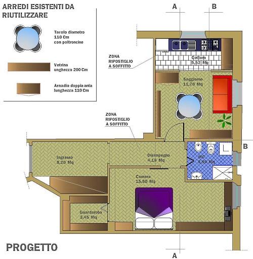 Ristrutturare 49 mq casa design - Progetto bagno 2 mq ...