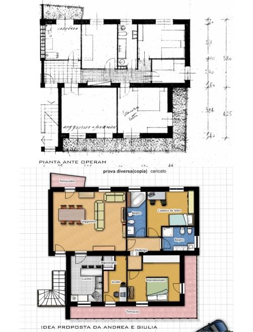 Ricavare uno studio per lavorare da casa chiedi all for Grandi planimetrie per le case