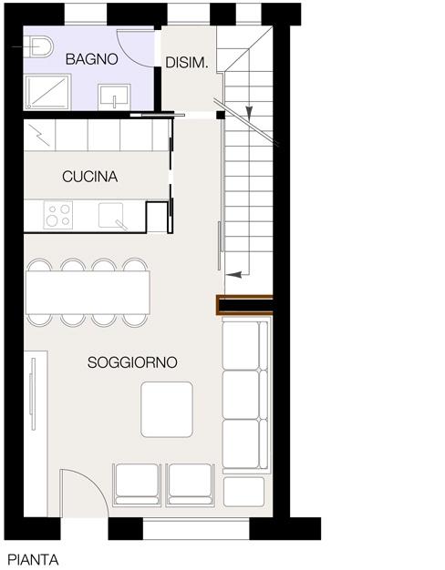 Suddividere la zona giorno casa design for Piani di casa con passaggi e stanze segrete