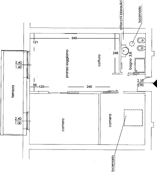 Arredare il soggiorno con angolo cottura casa design - Planimetria casa 60 mq ...