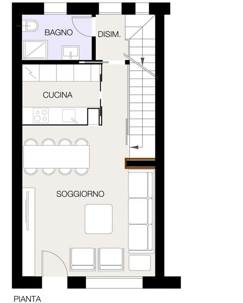 Separare gli ambienti con poco casa design for Grandi planimetrie per le case