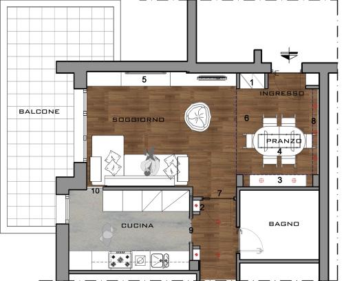 l'angolo cottura all'ingresso - casa & design - Faretti Da Incasso Ingresso