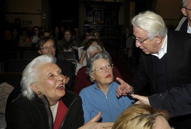 MariaTeresa Valli a sx col fratello Bernardo ( Foto Marco Vasini)