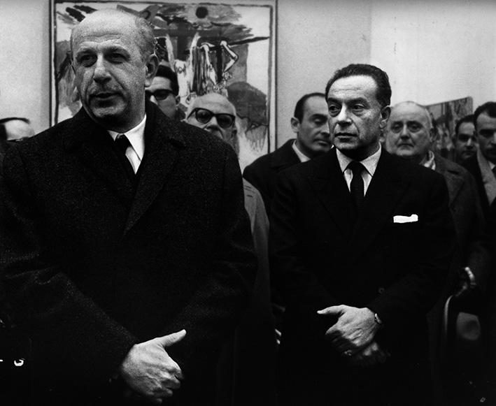 Piovene e Guttuso alla mostra del 1963