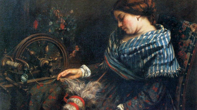Gustave Courbet, La filatrice, 1853