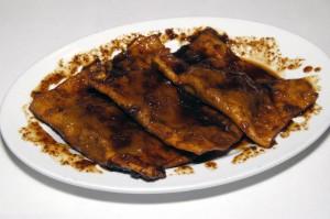Un piatto di turtèi sguasaròt