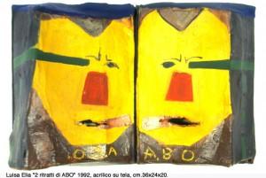 Ritratto di A.B.O. [Achille Bonito Oliva], 1992, tecnica mista su tela, cm 36 x 24 x 20