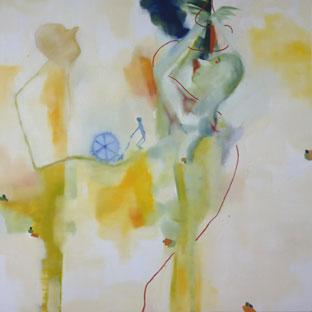 Un'opera di Marco Cingolani. Courtesy galleria Emilio Mazzoli, Modena