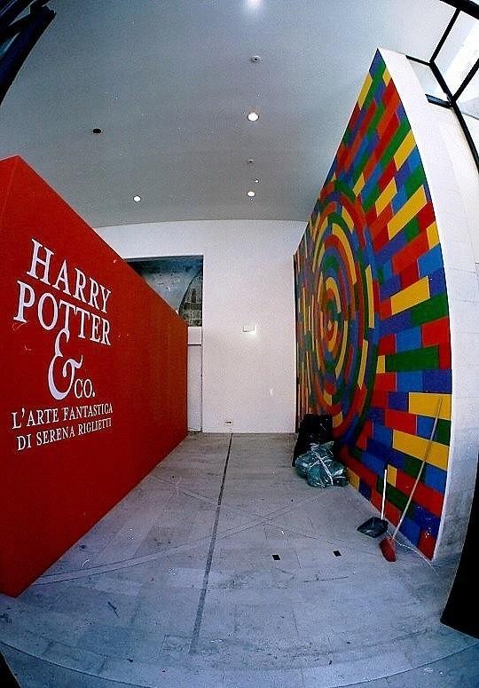 Il wall drawing fotografato nel 2008.