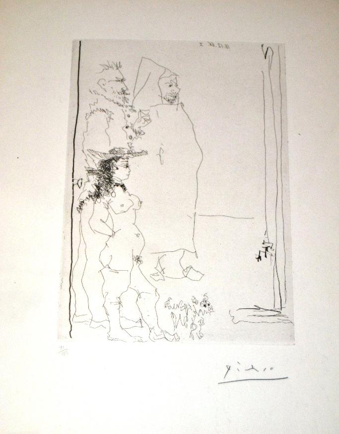 Pablo Picasso, Personnages, 1966, acquaforte