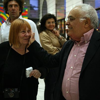 Pietro Marino con la fotografa Letizia Battaglia a Bari