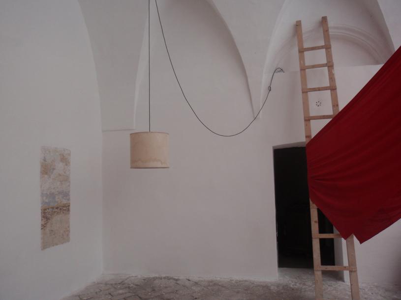 Particolare del cortile interno di Palazzo Ulmo