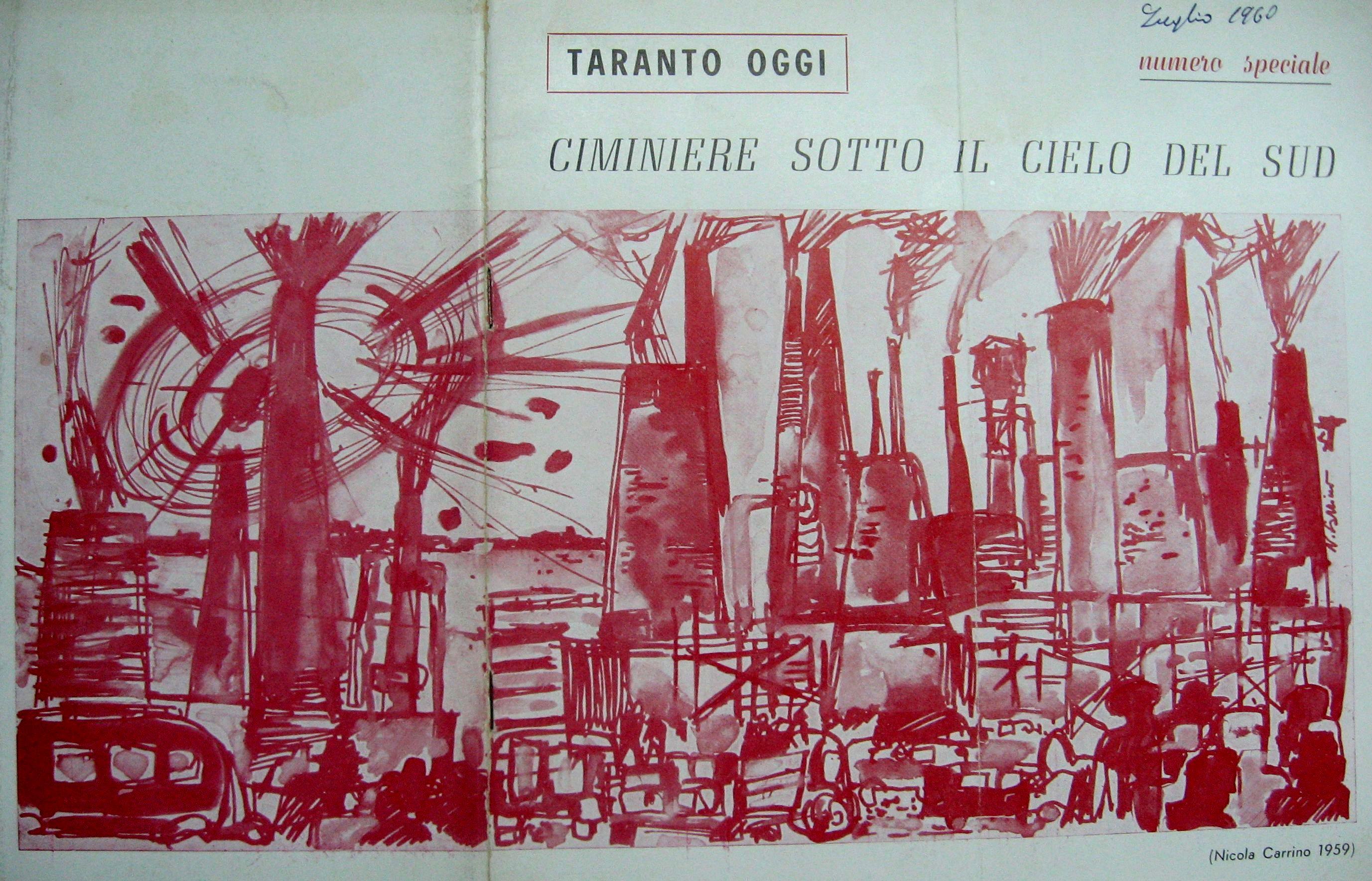 Copertina di Taranto Oggi a firma di Nicola Carrino