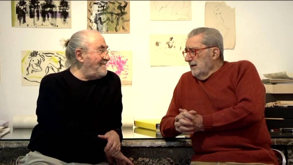Pignatelli con il gallerista Giorgio Marconi