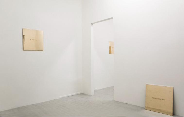 Francesco Arena, Double C, veduta della mostra nella galleria Davide Gallo di Milano, 2014