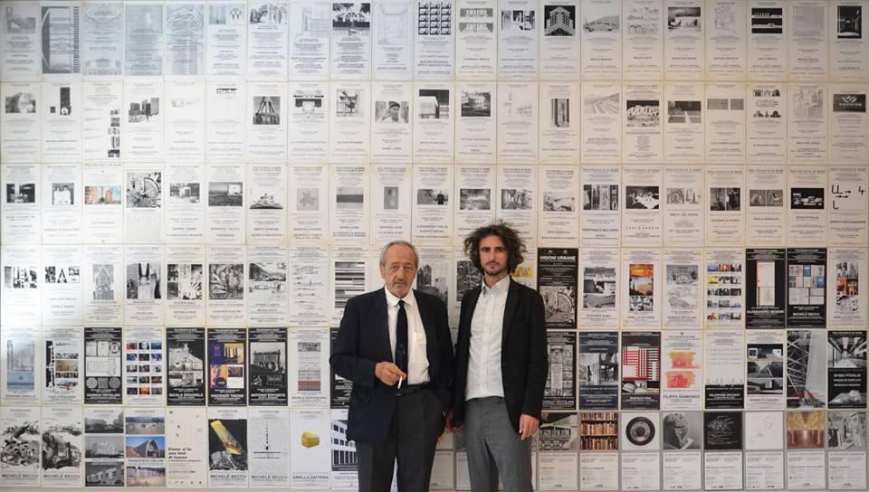 Maggiore con il suo maestro Francesco Moschini, nello studio di quest'ultimo al Politecnico di Bari