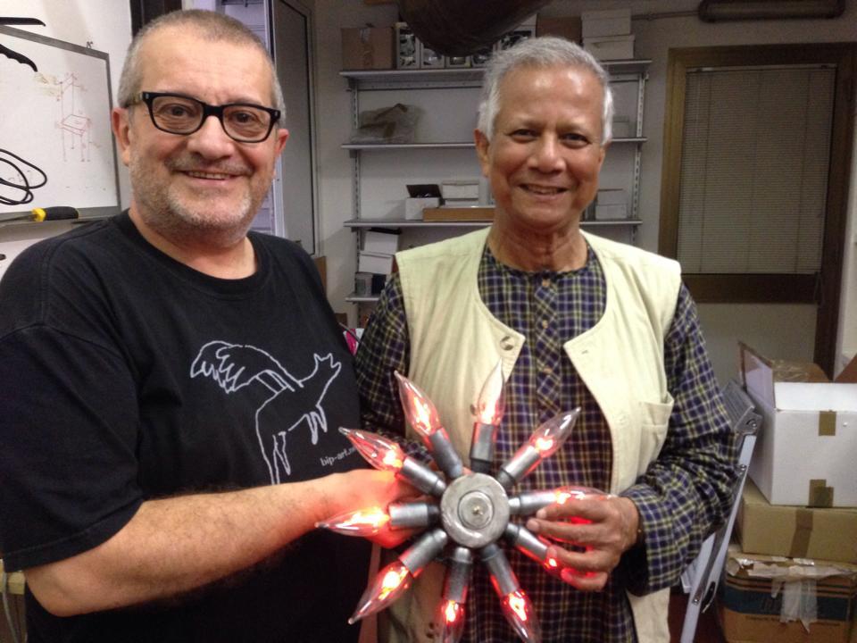 Albanese con Muhammad Yunus, Premio Nobel per la Pace