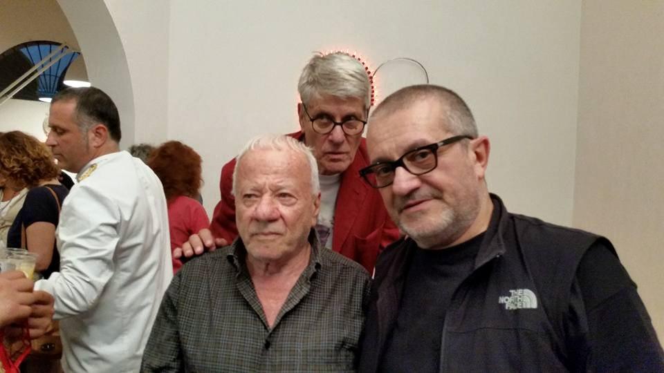 Albanese con Achille Bonito Oliva e Pio Monti. Ph. F. Milani