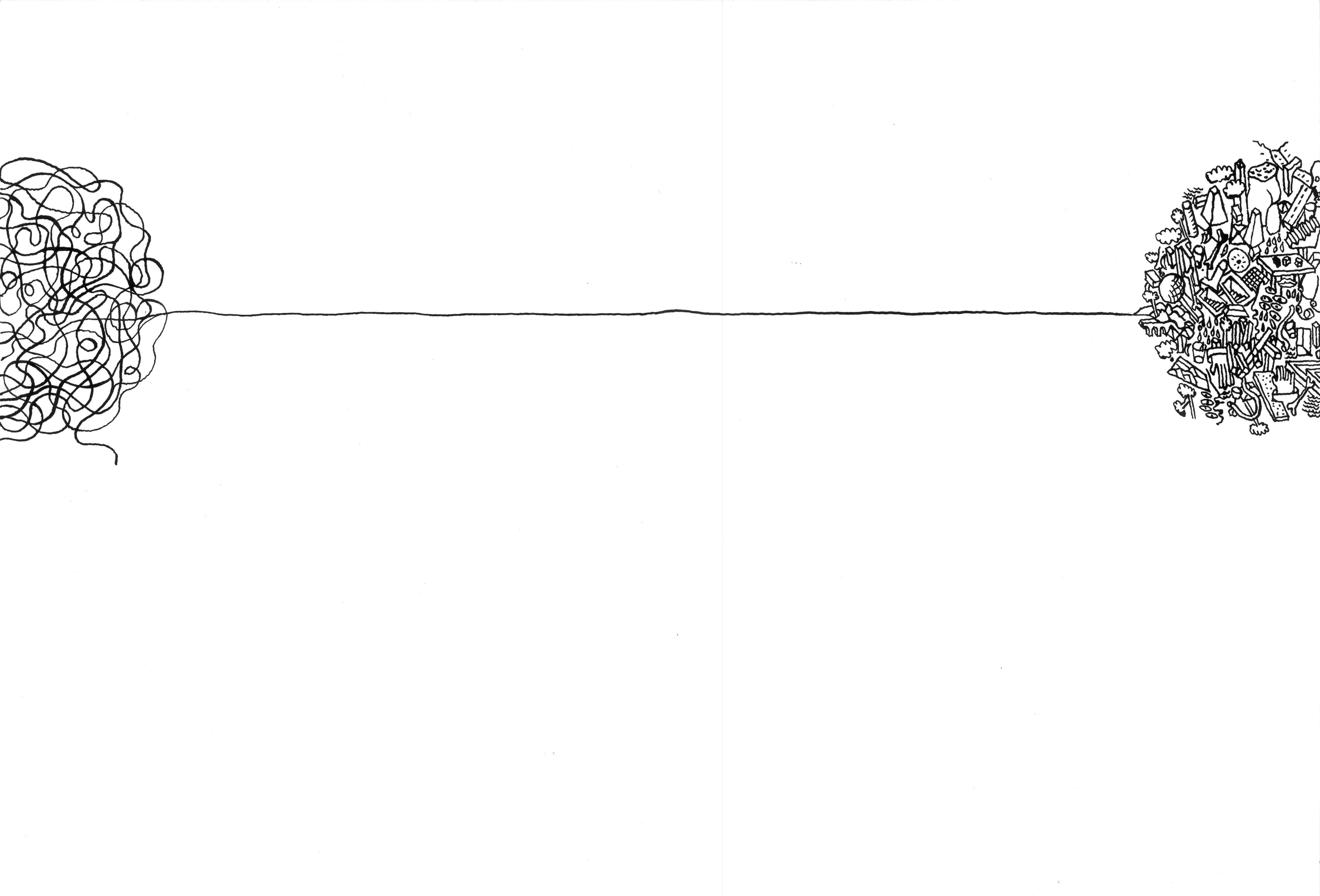 """Illustrazione di Vincenzo D'Alba realizzata per i """"Quaderni di Varia Cultura"""" della Fondazione Gianfranco Dioguardi. Courtesy A.A.M. Architettura Arte Moderna Collezione Francesco Moschini e Gabriel Vaduva"""