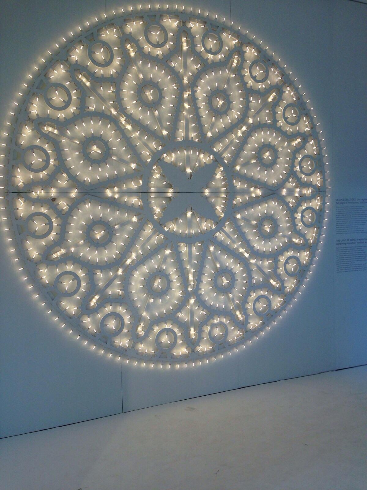 Particolare dell'installazione di Dellerba al Padiglione Puglia di Expo