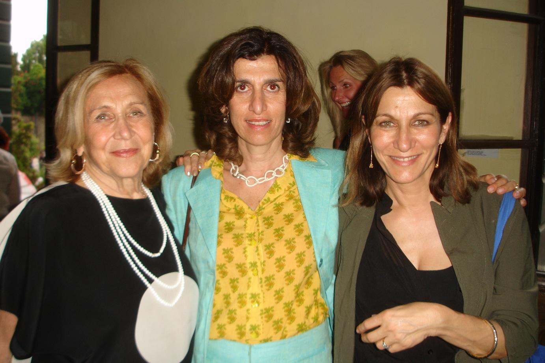 Marilena Bonomo con le figlie Valentina e Alessandra