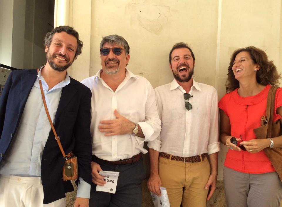 Da sinistra: Massimo Torrigiani, Giuseppe Filippi Filippi, Francesco Petrucci e Francesca Bonomo