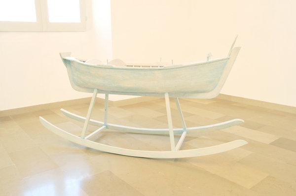 Un'opera di Giuseppe Teofilo. Collezione Fondazione Pascali, Polignano a mare.