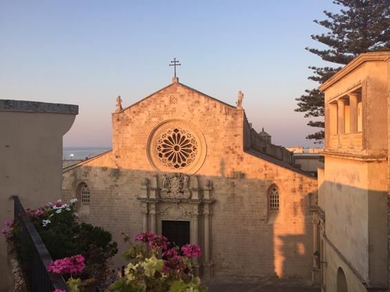 La cattedrale di Otranto vista dal terrazzo di casa Scheiwiller-Kancinska a Otranto