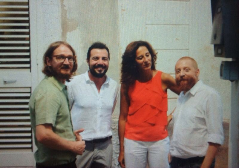 Da sinistra: Salvatore Baldi, Petrucci, Francesca Bonomo e Francesco Arena