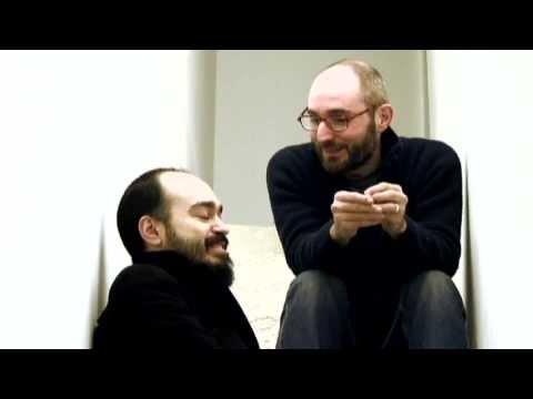 Edoardo Trisciuzzi con il giovane artista Fabio Mazzola
