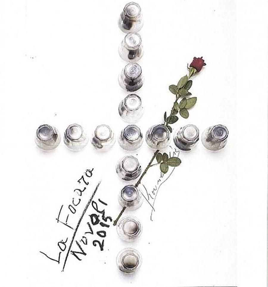 """Il """"manifesto d'autore"""" della Fòcara di Novoli 2015 firmato Jannis Kounellis"""