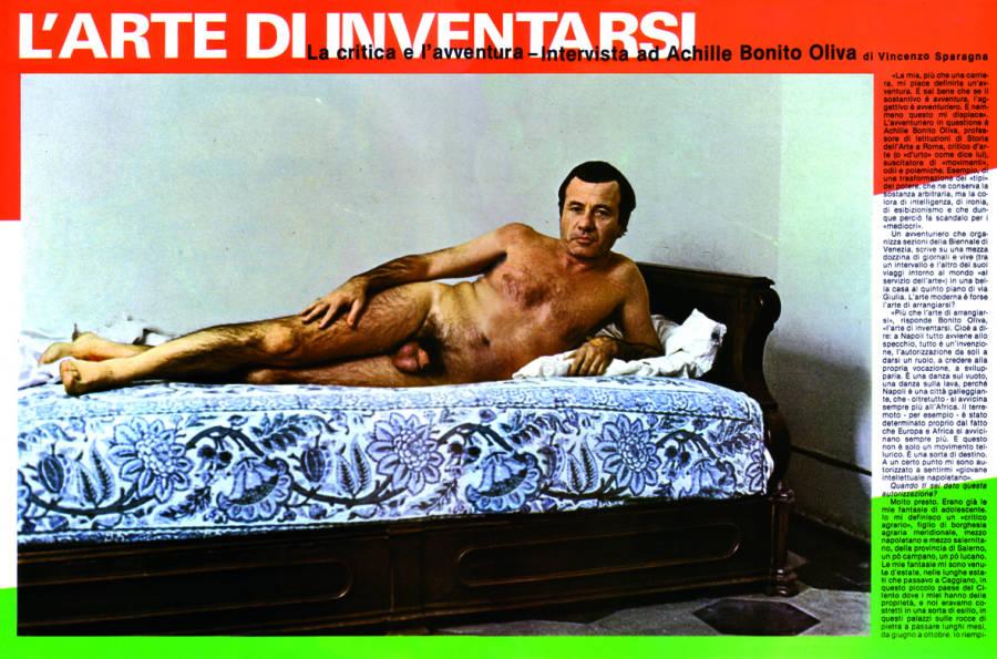 Il primo nudo di ABO su Frigidaire, 1981.