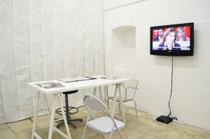 Isamit Morales, MONSTER N.2 PATRIMONY, 2010, Installazione, video, riviste, materiale d'archivio