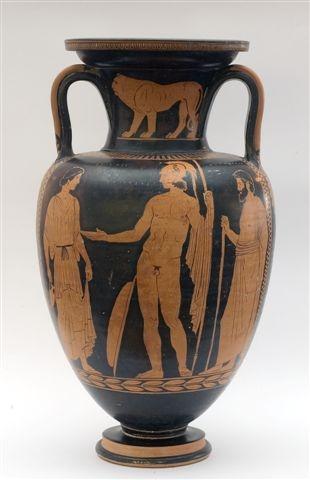 Una delle anfore conservate nella collezione permanente del museo Castromediano di Lecce