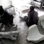 Fondazione Studio Carrieri Noesi, Red Horse, work in progress, 2016, corso di Scultura, Cristian Biasci