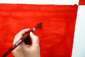 Fondazione Studio Carrieri Noesi, Starci dentro, work in progress del wall painting collettivo, 2016, corso di Cromatologia, Marco Neri