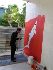 Fondazione Studio Carrieri Noesi, Progetto per Murale di viale Giotto, work in progress, corso di Decorazione Arte Ambientale, Giuseppe Teofilo