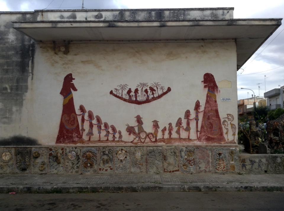 Dipinto murale di Ezechiele Leandro. Ph. Daniele D'Acquisto