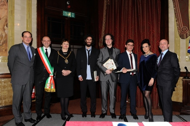 La premiazione del vincitore